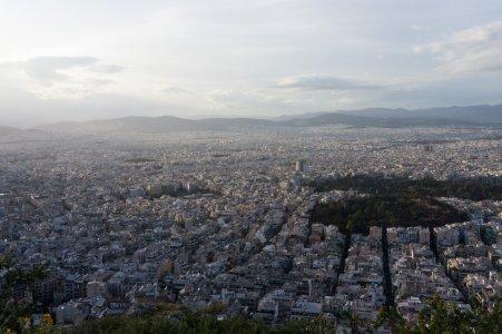 Athènes depuis le mont Lycabette