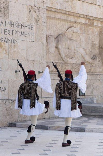 Relève de la garde à Athènes