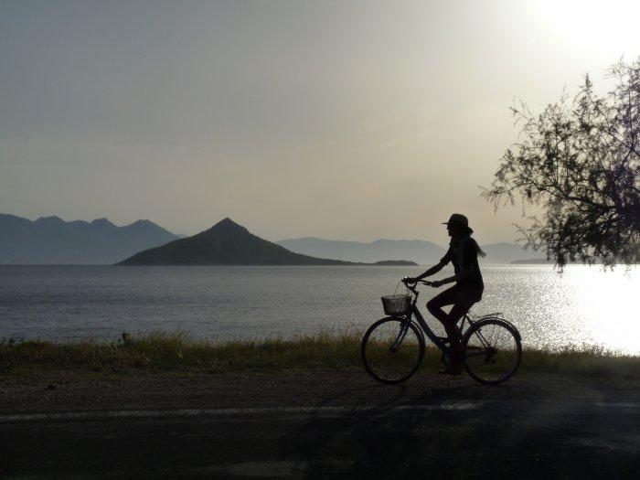 Vélo à Égine
