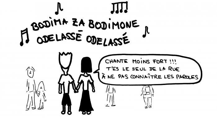 Dessin chante chanson bosnienne