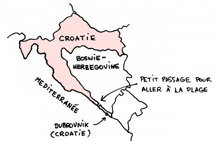 Carte de la cote Croate