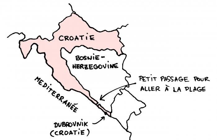 Carte de la cote Croate