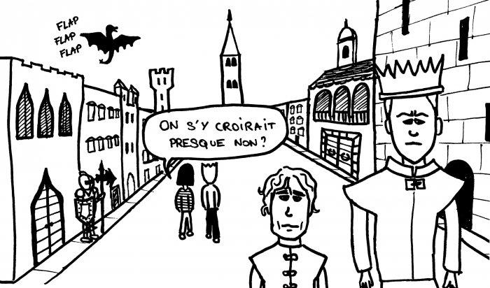 Dessin Dubrovnik Game of Throne