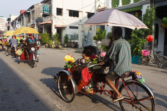 Trishaws à Penang