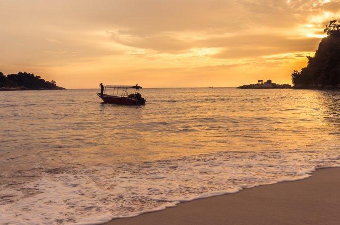 Coucher de soleil sur l'île de Pangkor