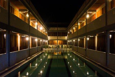 Belle piscine d'hôtel
