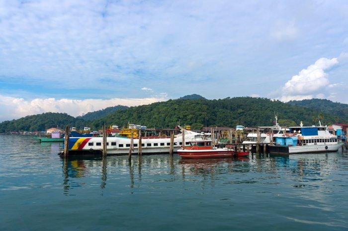 Village de pêcheurs à Pangkor, Malaisie