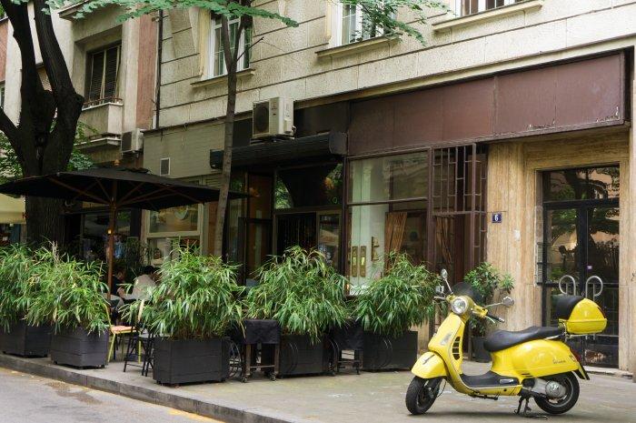 Terrasse de bar à Belgrade