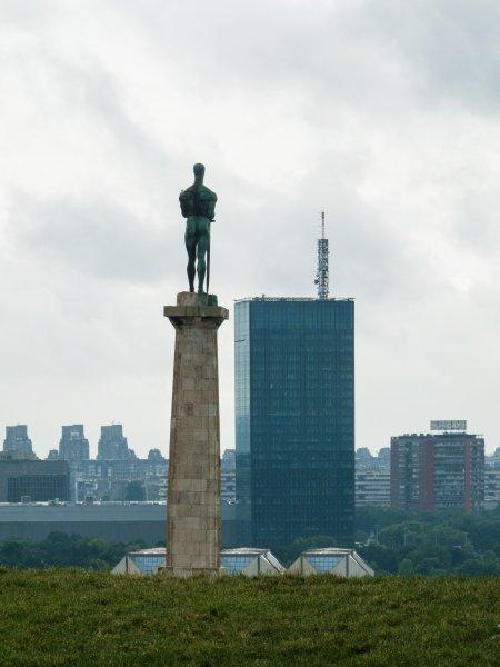 Pobednik statue, parc de Kalemegdan, Belgrade