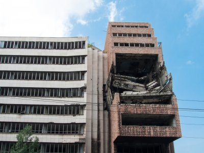 Immeuble bombardé par l'OTAN à Belgrade