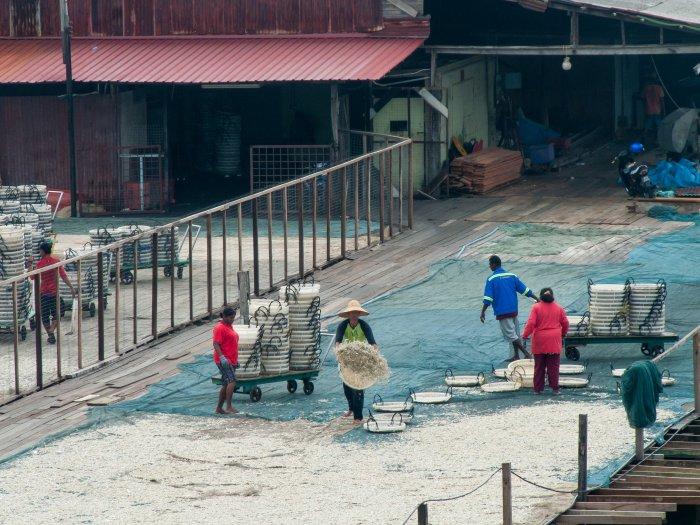 Pêcheurs à Pangkor, Malaisie