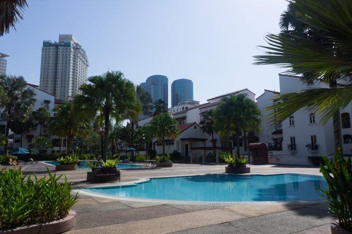 Piscine de résidence à Kuala Lumpur