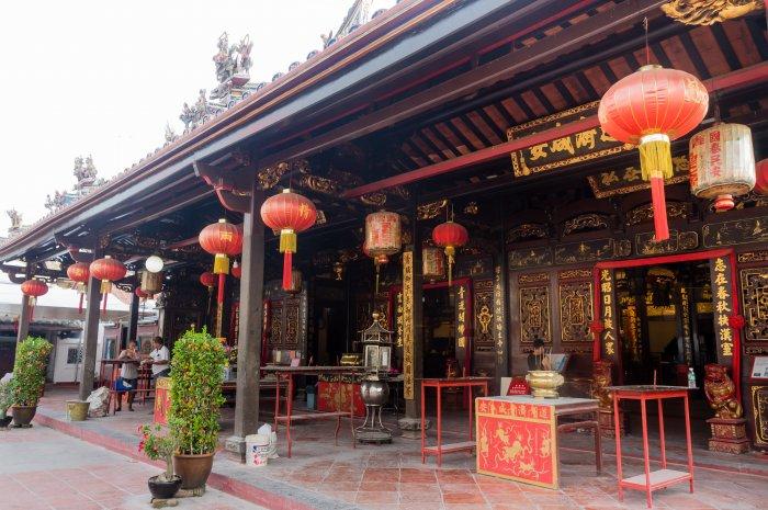 Temple chinois de Melaka en Malaisie
