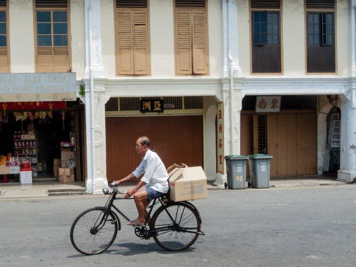 Vélo à Melaka, Malaisie