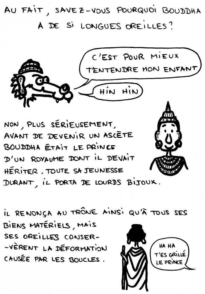 Dessin : pourquoi Bouddha a-t-il de si grandes oreilles ?
