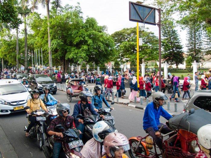 Scooters à Yogyakarta, Indonésie