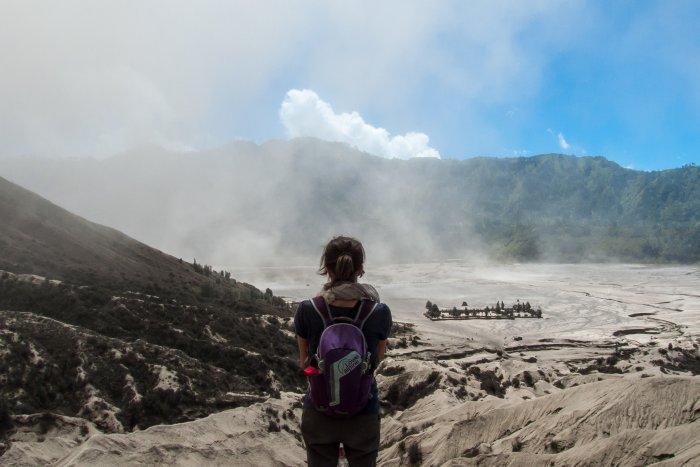 Vue du haut du Mont Bromo, Indonésie