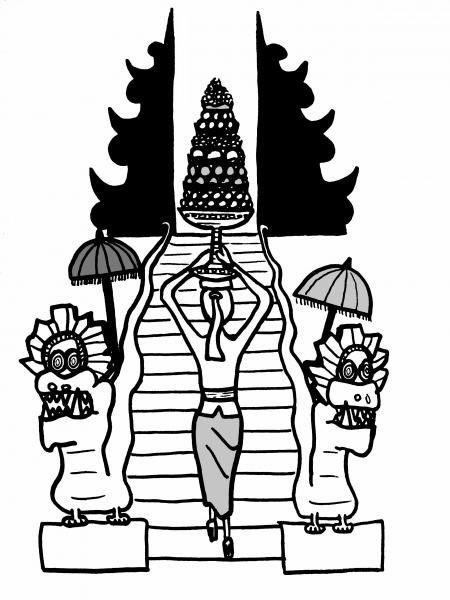 Ceremonie à Bali