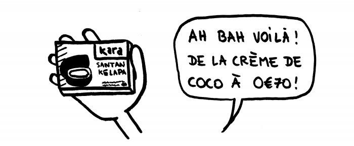 Crème de coco à Bali