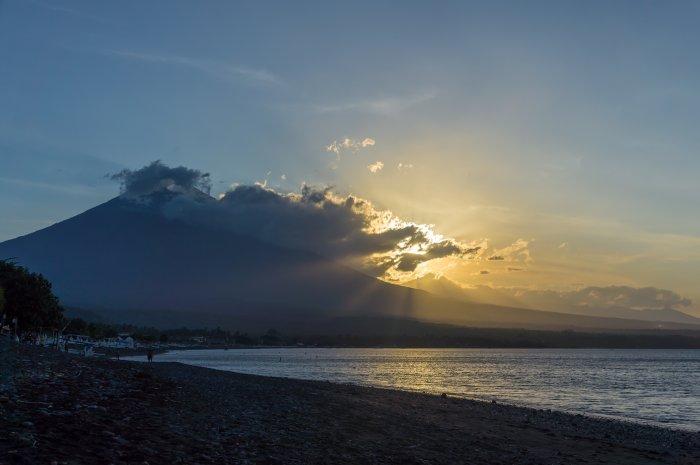 Coucher de soleil à Amed, Bali