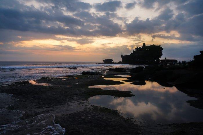 Tanah Lot au coucher du soleil, Bali