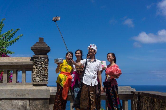 Selfie au temple d'Uluwatu