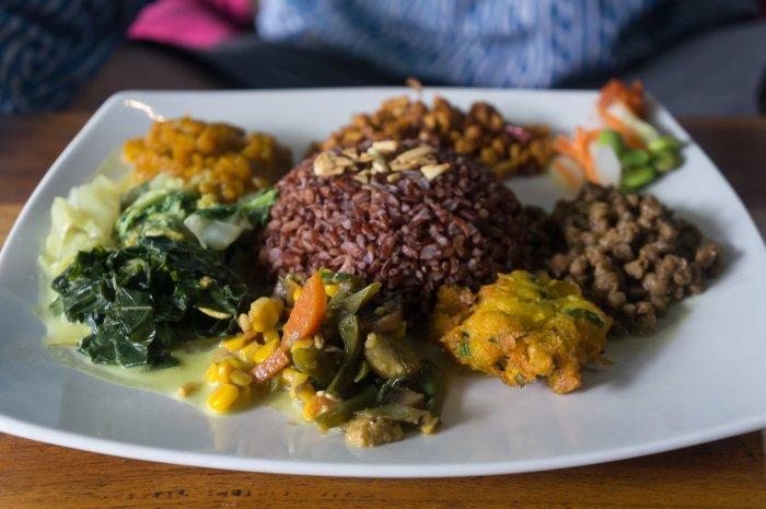 Plat indonésien, Wulan Vegetarian Warung, Ubud, Bali