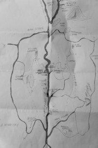 Plan des cascades de Munduk