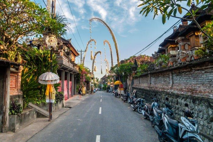 Rues d'Ubud, Bali, Indonésie
