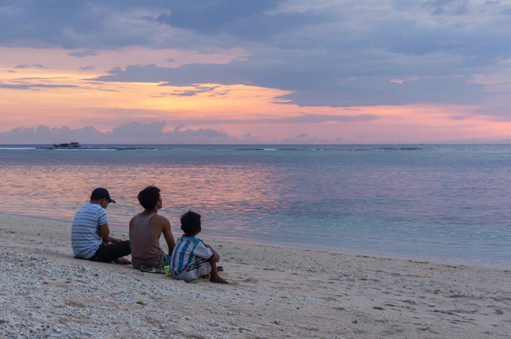 Coucher de soleil sur Gili AIr, Indonésie