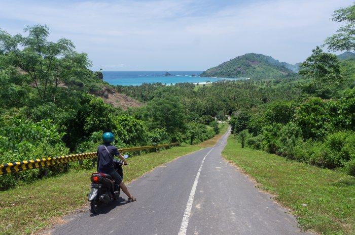 Route vers la plage de Mekaki, Lombok