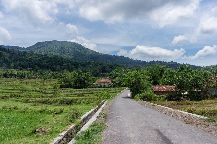 Route de campagne à Lombok