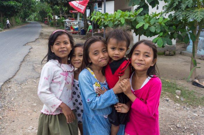 Fillettes indonésiennes