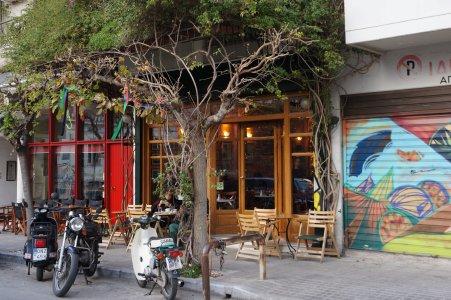Café à Athènes