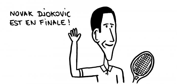 Dessin : Djokovic en finale