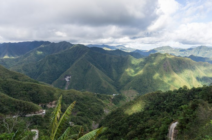 Montagnes près de Batad, Philippines