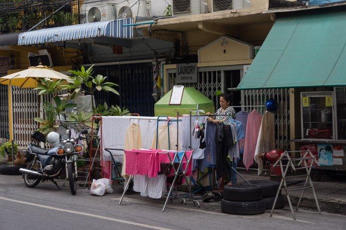 Scène de rue à Bangkok
