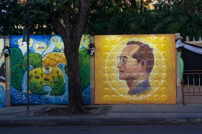 Portraits de Rama IX, Bangkok, Thaïlande