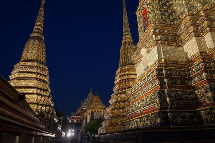 Temple Wat Pho de nuit, Bangkok