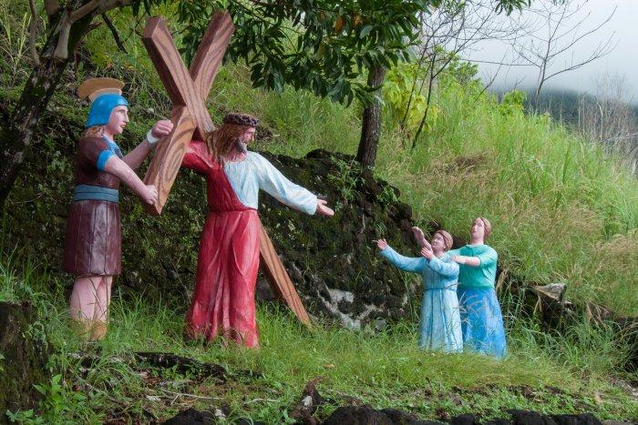 Chemin de croix à Camiguin, Philippines