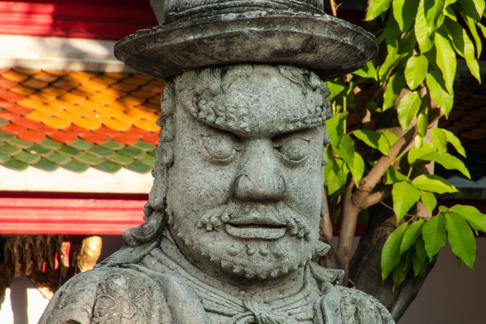 Statue au Wat Pho, Bangkok