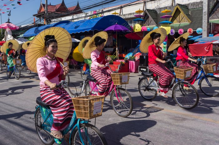 Festival des ombrelles, Bo Sang, Chiang Mai