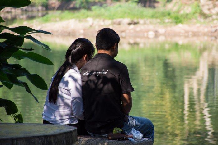 Jeune couple, Wat Umong, Chiang Mai