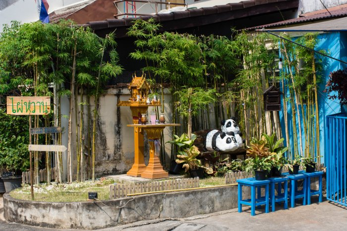 Quartier mignon de Chiang Mai, Thaïlande