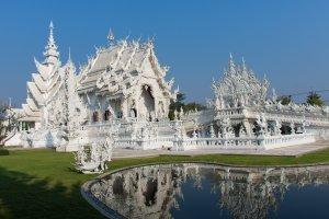 White temple, Chiang Rai, Thaïlande