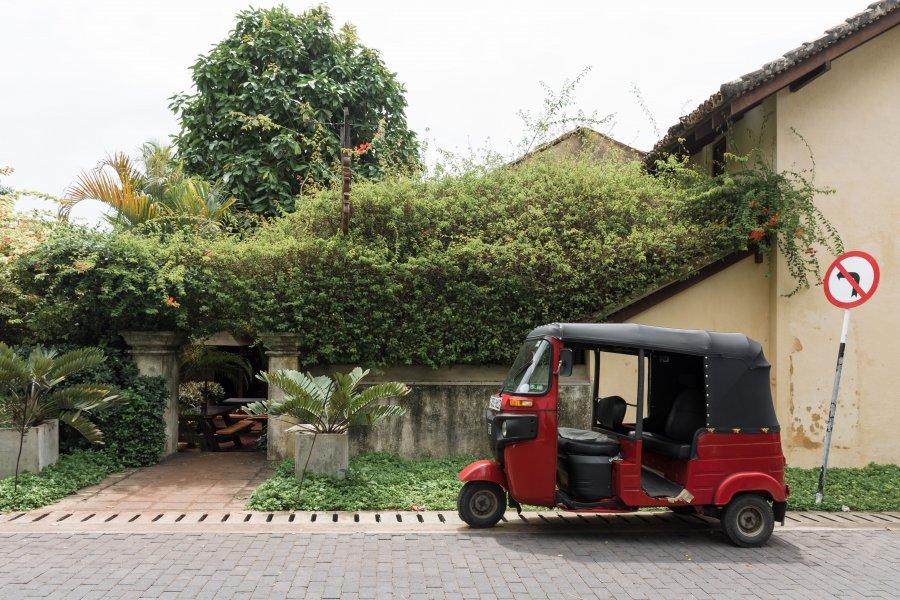 Tuktuk à Galle