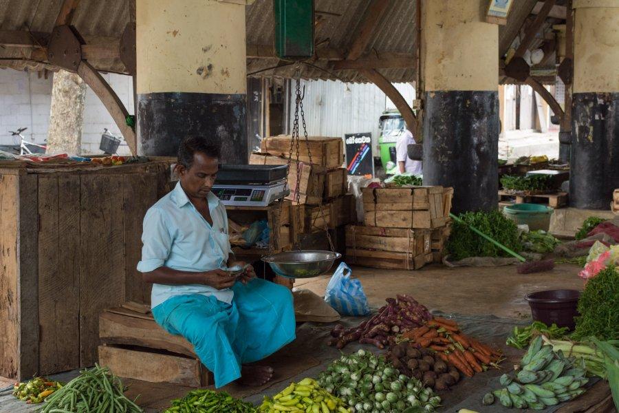 Marché de légumes de Galle, Sri Lanka