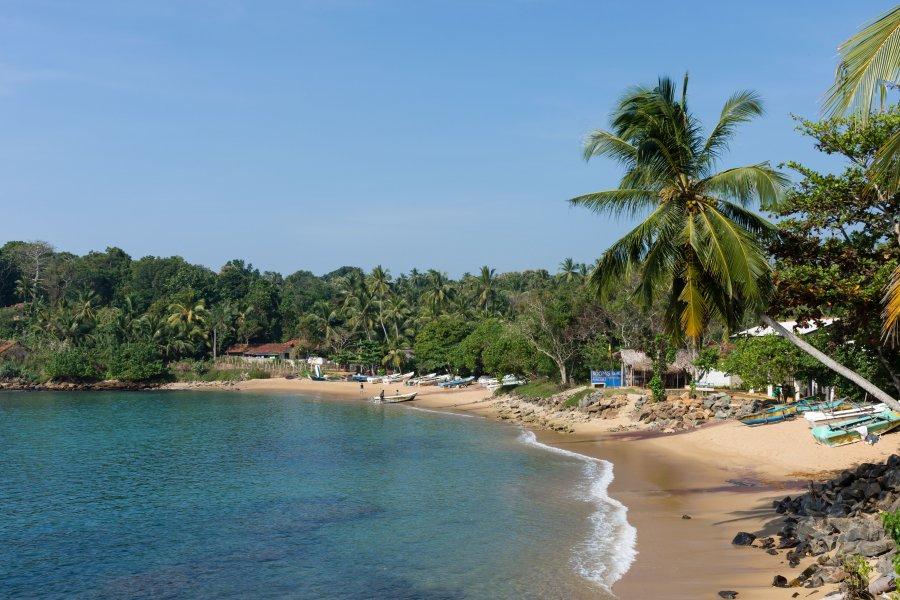 Plage d'Unakuruwa, Sri Lanka