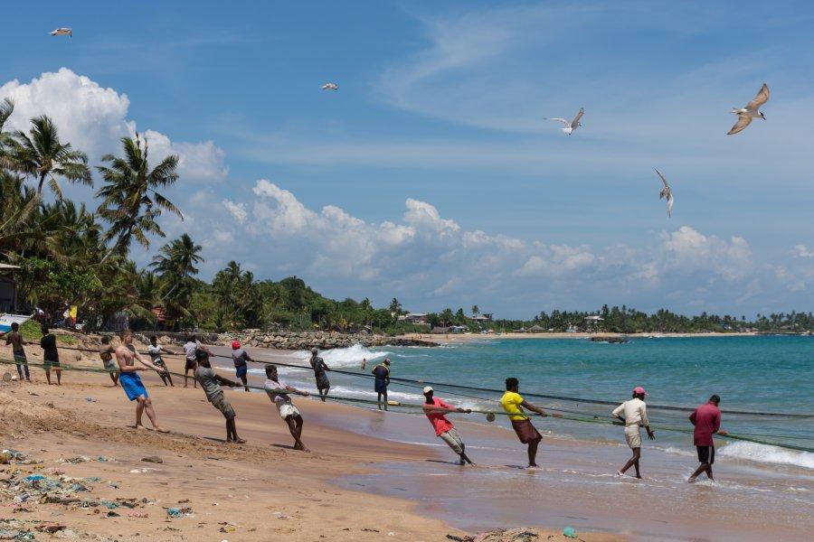 Pêcheurs à Tangalle, Sri Lanka