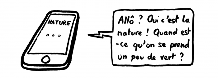Dessin : L'appel de la nature